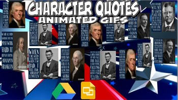 Character Quotes and Animated GIFs Bell Work Questions