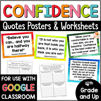 Confidence Quotes Posters and Activities