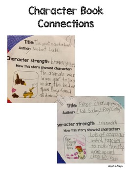 Character, Reading- Character to Book Connections