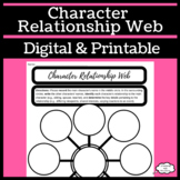 Character Relationship Web Graphic Organizer for Reading o