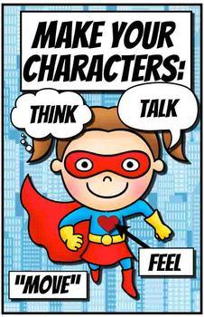 Character Reminder Posters - Superhero Theme