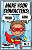 Character Reminder Posters - Superhero Theme
