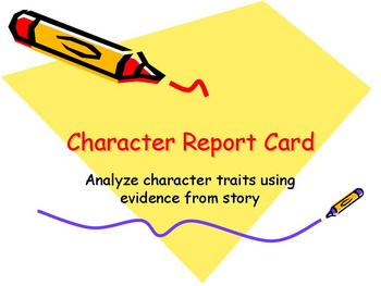 Character Report Card Powerpoint