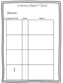 Character Report Card R.L.2.3  R.L.3.3