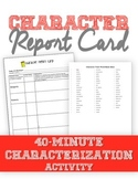 Character Report Card--Use with any novel!