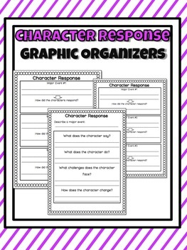 Character Response Graphic Organizers