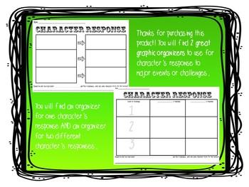 Character Response Graphic Organizers