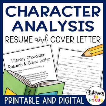 Character Resume and Cover Letter (Works With Any Literary