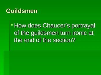 Character Review for Chaucer's Canterbury Tales Prologue