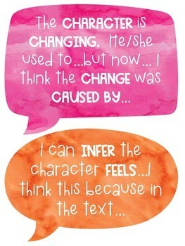 Character Sentence Frames for Reading, Writing, and Discussions!
