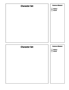 Character Set Handout