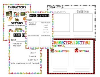 Character & Setting Activities {Bundle}