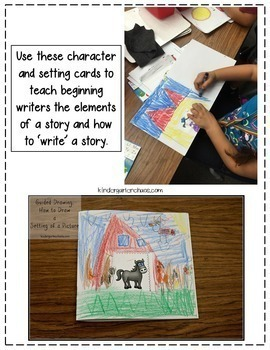 Character & Setting Cards for Beginning Writers