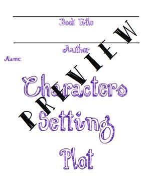 Character Setting Plot Flipbook