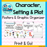 Character, Setting & Plot (Posters and Graphic Organizer)