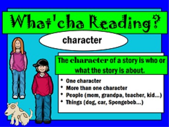 Character, Setting, Plot review  FLIPCHART (Helps with RL.3)