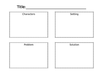 Character, Setting, Problem, Solution Boxes
