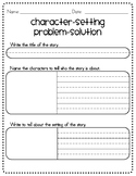 Character Setting Problem Solution Graphic Organizer