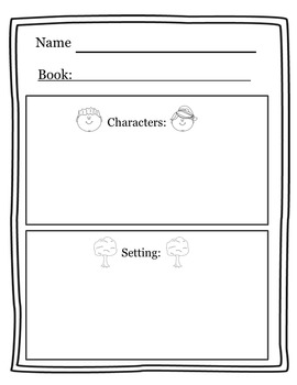 Character Setting Worksheet