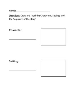 Character, Setting and Sequencing Template