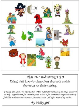 Character & Setting puzzles English and Spanish
