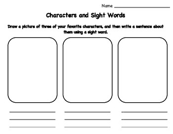 Character Sight Words