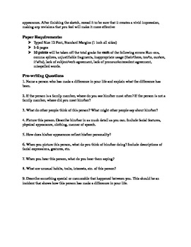 Character Sketch Essay