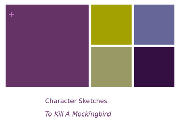 Character Sketch Group Work To Kill A Mockingbird