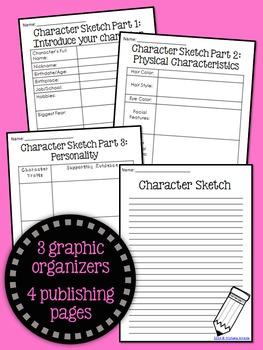 Character Sketch Mini Writing Unit: $1 Deal