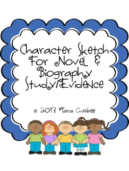 Character Sketch Notetaking & Final Book Evidence