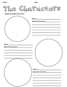 Character Sketch Template