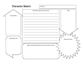 Character Sketch Worksheet