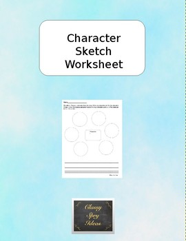 Character Sketch Worksheet by Classy Spry Ideas | TpT
