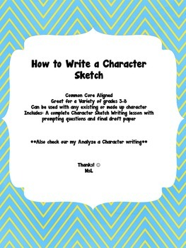 Character Sketch Writing