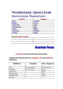 Character Sketch Writing Paragraph