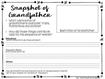 Character Snapshot- Ready Gen 3rd Grade- Unit 3, Module A