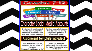 Character Social Media Account Assignment
