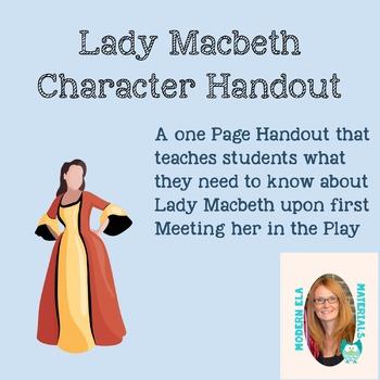 Character Spotlight on Lady Macbeth-Handout