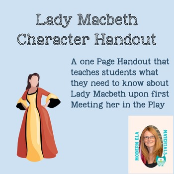 Character Spotlight on Lady Macbeth-Handout
