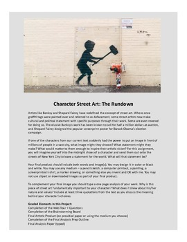 Character Street Art Project (For Any Novel)