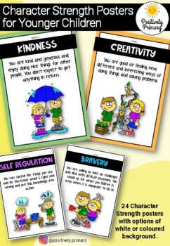 Character Strength Cards / Posters for Kids - Positive Psychology and Education