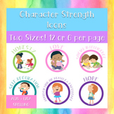 Character Strength Icons - AUS + USA Spelling - 6 or 12 Ic