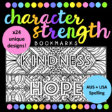 Character Strength/Mindfulness Bookmark Set! (AUS & USA Spelling)
