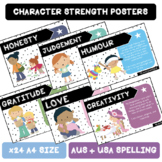 Character Strength Poster Set  |  AUS + USA SPELLING