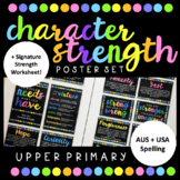 Character Strength Poster Set (Upper Primary) - USA & AUS Spelling