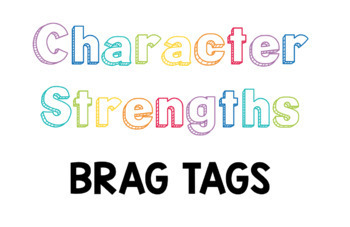 Character Strengths Brag Tags