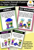 Character Strengths Posters for Kids -Positive Psychology Traits