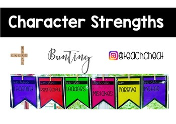 Character Strengths Flag Bunting