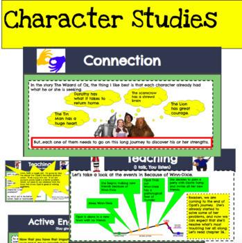 Lucy Calkins Character Studies Third Grade Reading Workshop Unit (Editable)