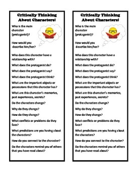 Character Study Bookmark